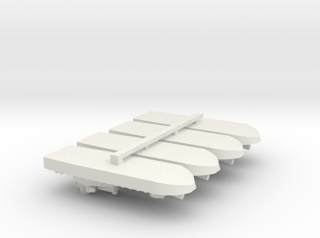 1/700 Vietnam Monitor x 4 off in White Natural Versatile Plastic