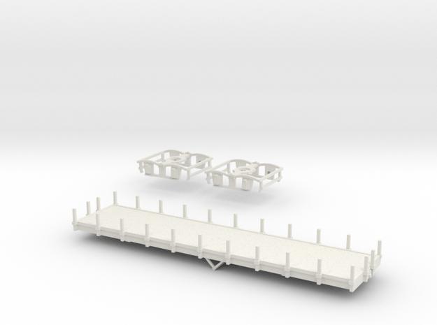 OEG Flachwagen in White Natural Versatile Plastic