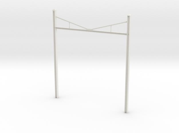 Catenary Pole Full Dimensions 4 inch centers in White Natural Versatile Plastic