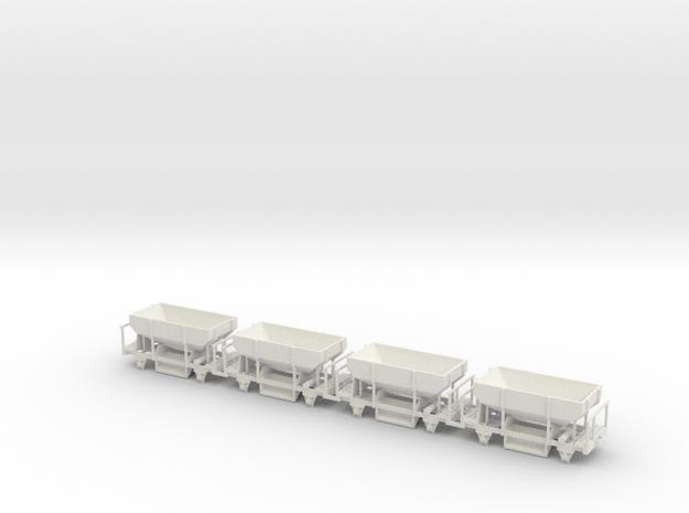 OEG Schotterwagen (4stck.) in White Natural Versatile Plastic