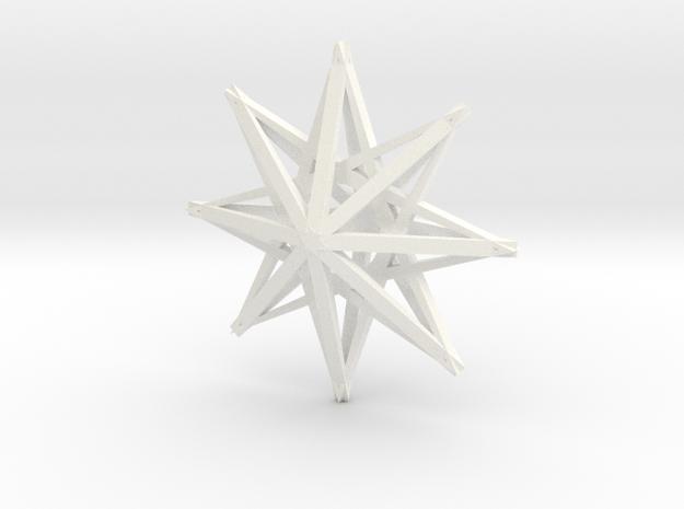 star3 ornament by Jorge Avila in White Processed Versatile Plastic