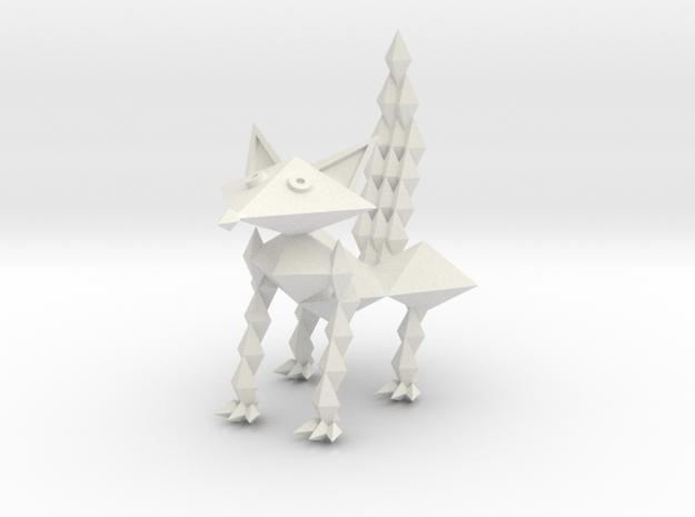 Fox Figurine by Ruben Aguilar in White Natural Versatile Plastic