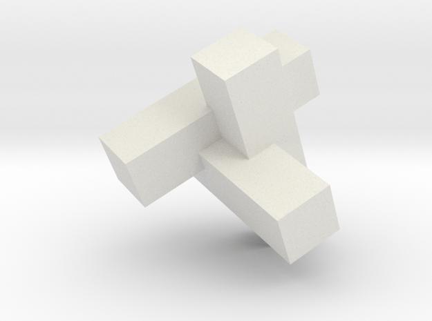 TriCross by Robert Johnson in White Natural Versatile Plastic