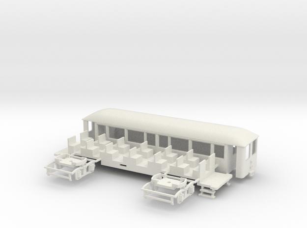 OEG geschl. Dampfbahnbeiwagen gr. Stirnfenster in White Natural Versatile Plastic