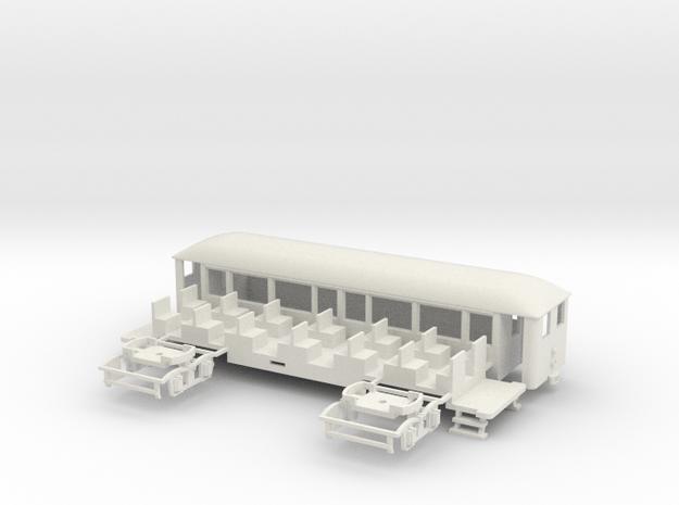 OEG geschl. Dampfbahnbeiwagen kl. Stirnfenster in White Natural Versatile Plastic