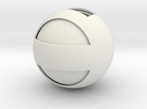 Sphere Case in White Natural Versatile Plastic