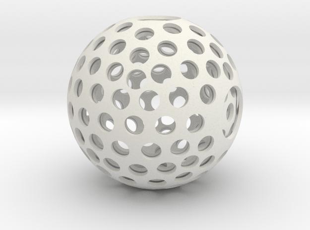 Holesphere in White Natural Versatile Plastic