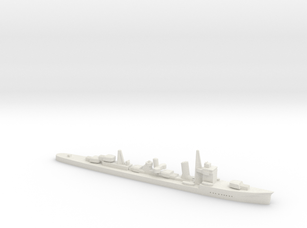 Asagumo (Asashio class 1:1800) in White Natural Versatile Plastic