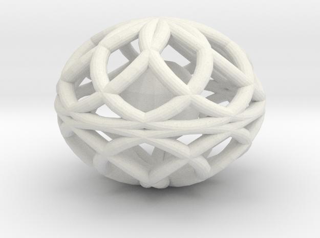 16TorusOvalRattle in White Natural Versatile Plastic
