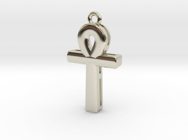 Cross in 14k White Gold