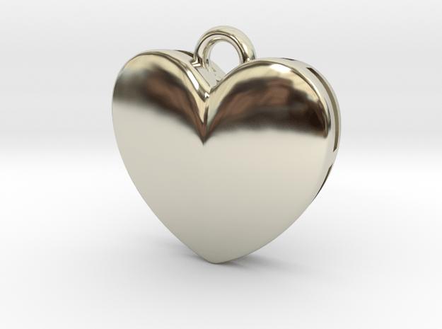 Heart in 14k White Gold
