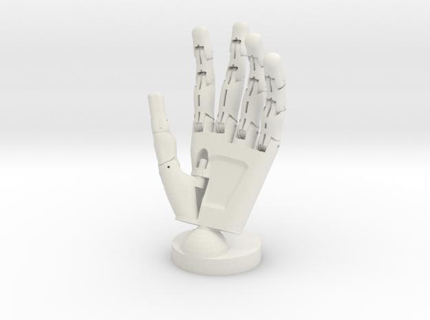 Cyborg open hand small in White Natural Versatile Plastic