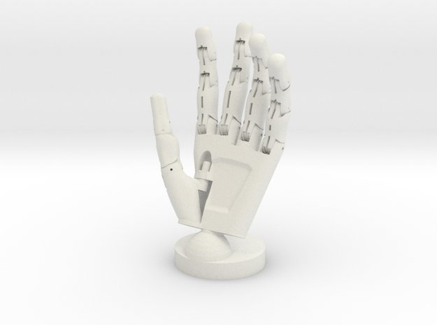 Cyborg open hand - Life Size in White Natural Versatile Plastic