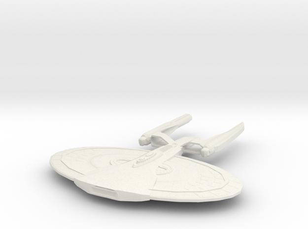 Monroe Class Battleship in White Natural Versatile Plastic