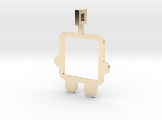 made with love - small robot in 14K Yellow Gold