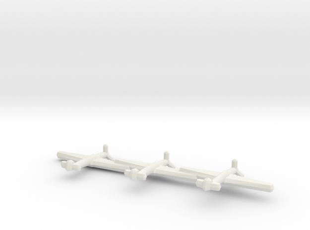 Messerschmitt Me 155A (Triplet) 1:900 in White Natural Versatile Plastic