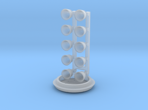 Falcon Heavy engine set for ONE side booster in Smooth Fine Detail Plastic: 1:144