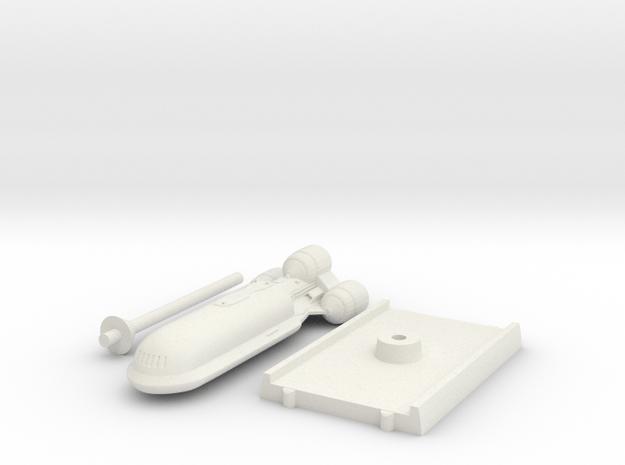 Senate Starship - With base in White Natural Versatile Plastic