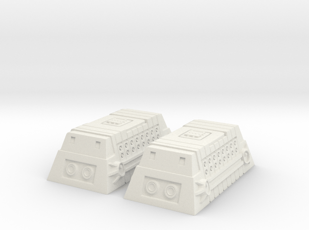 2x Class-A Cargo Container in White Natural Versatile Plastic