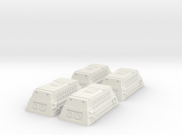 4x Class-A Cargo Container in White Natural Versatile Plastic