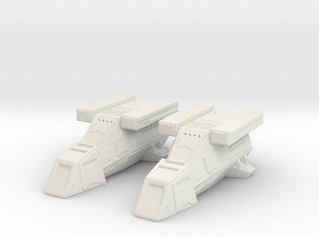 2x DX9 Stormtrooper Transport in White Natural Versatile Plastic