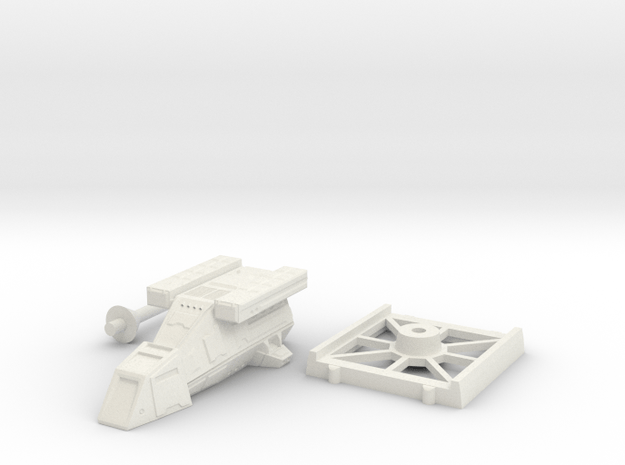 DX9 Storm Trooper Transport With Cheap Base in White Natural Versatile Plastic