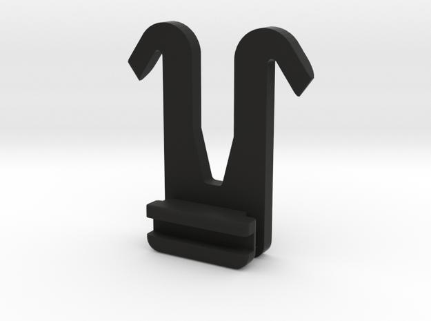 Molle V Clip Trit in Black Natural Versatile Plastic