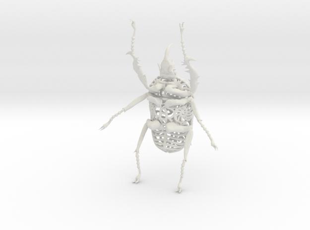 Goliath Beetle - 9cm in White Natural Versatile Plastic