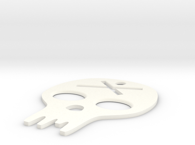 made with love - graphic  skull in White Processed Versatile Plastic