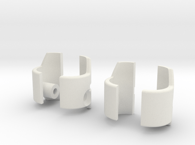 Arm Armor Zero in White Natural Versatile Plastic