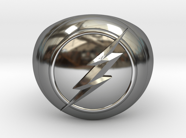 Flash Ring in Fine Detail Polished Silver