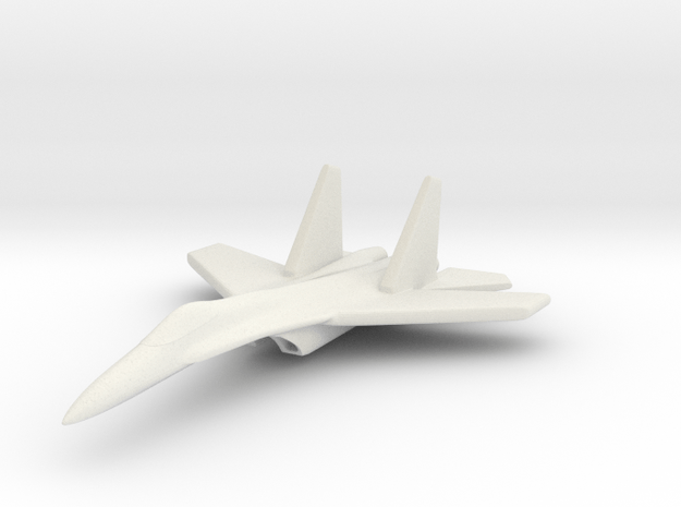 1/285 (6mm) Chinese J-11 in White Natural Versatile Plastic