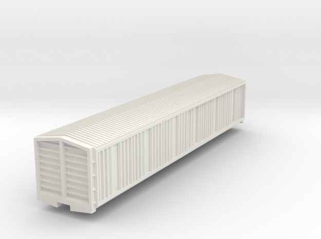 1:87 Scale NZR ZM in White Natural Versatile Plastic