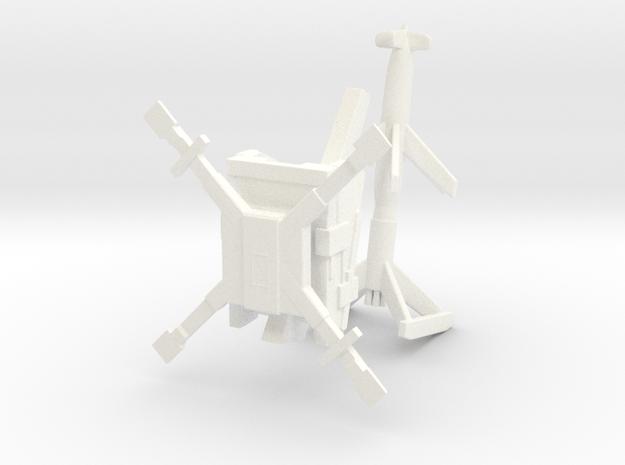 1/144 Rheintochter in White Processed Versatile Plastic