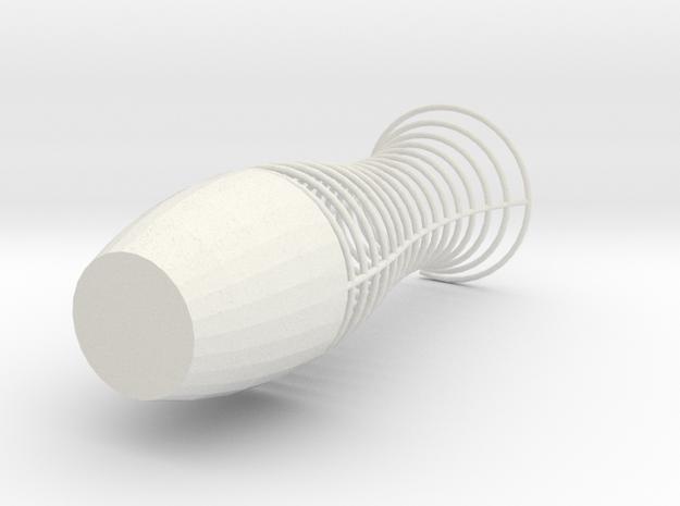 Funky Vase in White Natural Versatile Plastic