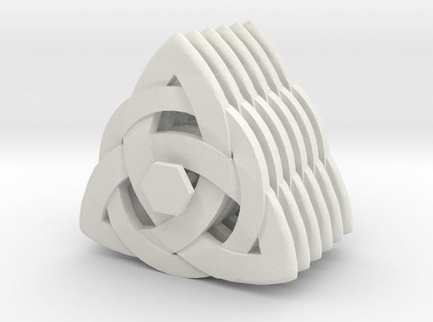 Guitar Pick Celtic Knot (Set of 6) in White Natural Versatile Plastic