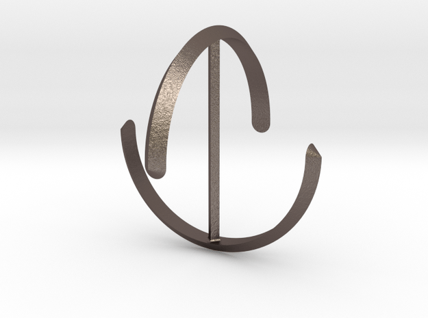 einflach redux in Polished Bronzed Silver Steel