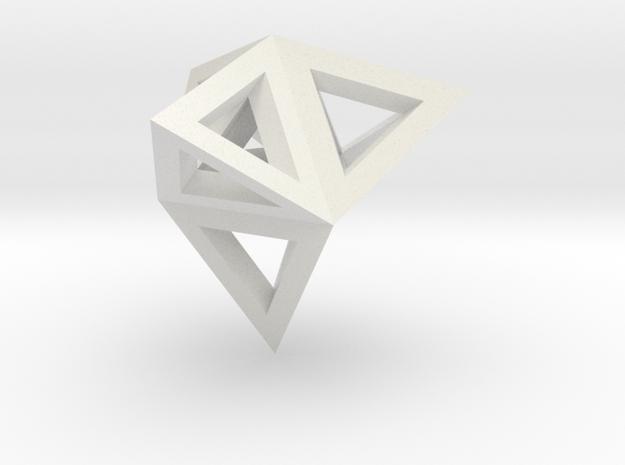 tetraeder mit tetraedern in White Natural Versatile Plastic