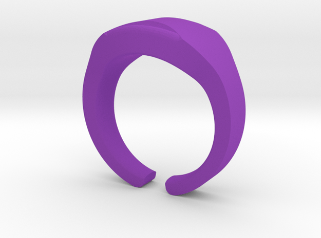 Heavy Ring model 1.3 (size US12: 21,4mm) in Purple Processed Versatile Plastic