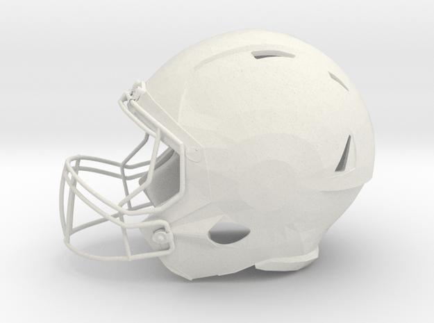 Football Helmet  in White Natural Versatile Plastic