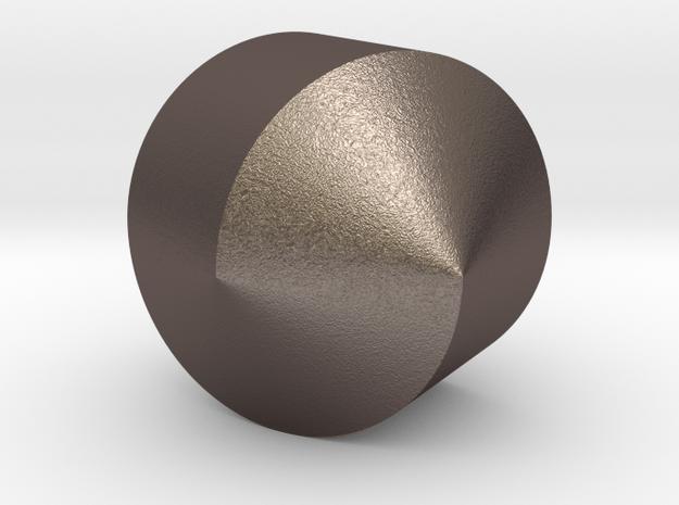 femi six in Polished Bronzed Silver Steel