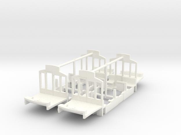 (H0m) - Inneneinrichtung für Herbrand-Triebwagen in White Processed Versatile Plastic