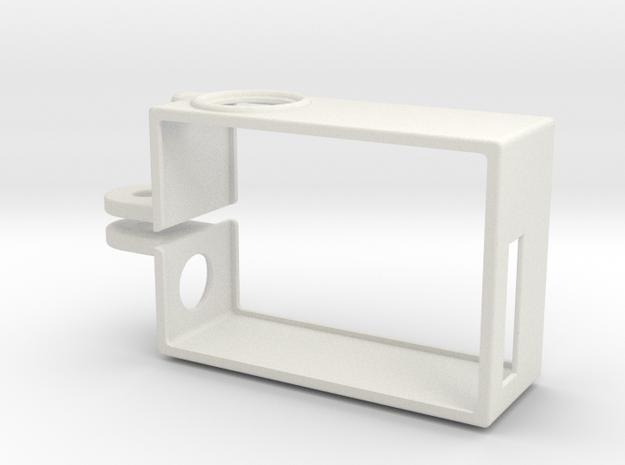 Rugged GoPro Hero3 vertical frame in White Natural Versatile Plastic