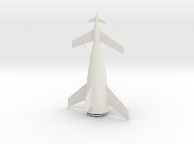 1/400 VON BRAUN ROCKET in White Natural Versatile Plastic
