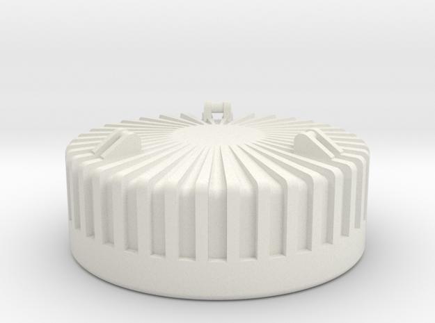 Rundmagnet RHB17 in White Natural Versatile Plastic