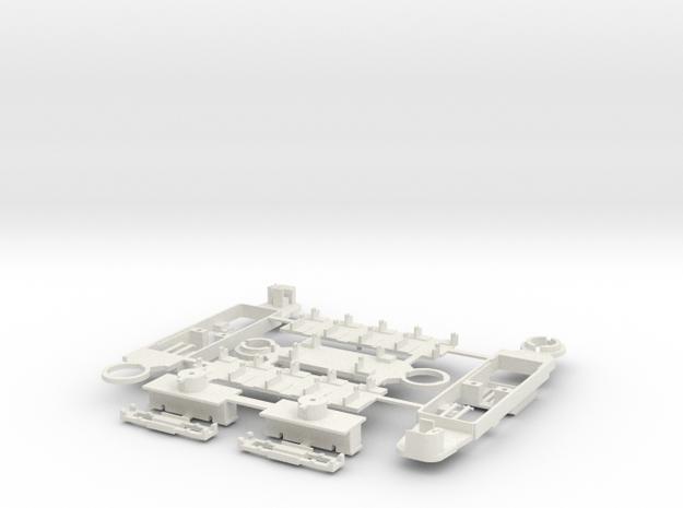 GT8 80 Rastatter nur Bodengruppe in White Natural Versatile Plastic