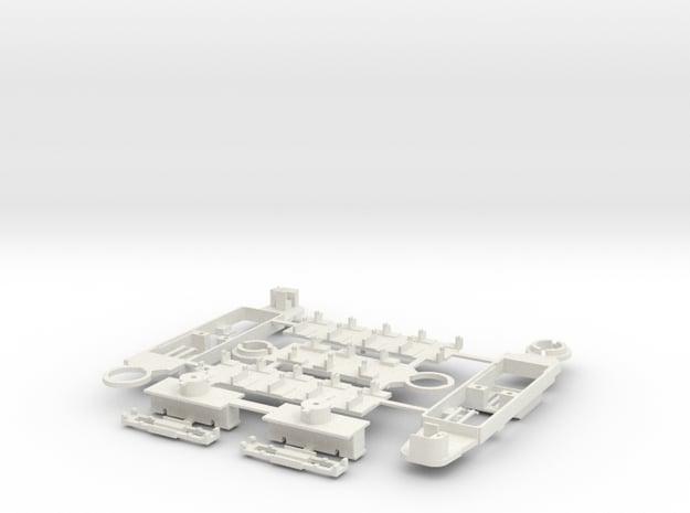 GT8 81 Rastatter nur Bodengruppe in White Natural Versatile Plastic