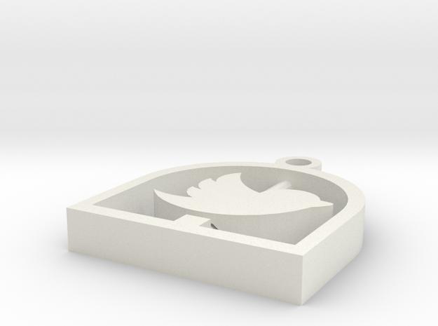 Twitter Pendant Tweet Bird Cage in White Natural Versatile Plastic
