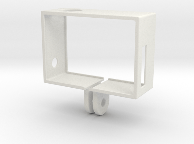 GoPro Hero3 Frame (reversed) in White Natural Versatile Plastic