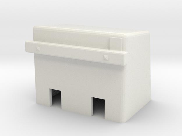 H0e Betonprellbock Aufsatzmodell in White Natural Versatile Plastic